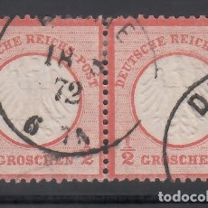 Sellos: ALEMANIA IMPERIO, 1872 YVERT Nº 3, PAREJA. . Lote 177528209
