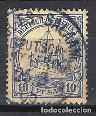 ÁFRICA ORIENTAL ALEMANA 1901 - EL ACORAZADO DEL KAISER HOHENZOLLERN - SELLO USADO (Sellos - Extranjero - Europa - Alemania)