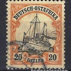 Sellos: ÁFRICA ORIENTAL ALEMANA 1905 - EL ACORAZADO DEL KAISER HOHENZOLLERN - SELLO USADO, VALOR EN HELLER. Lote 178025409