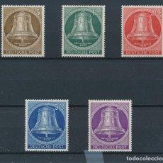 Sellos: SELLOS ALEMANIA BERLIN 1953 Y&T 87/91** CAMPANA DE LA LIBERTAD. Lote 178618543
