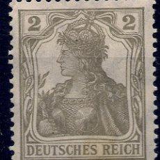 Sellos: ALEMANIA - IMPERIO - GERMANIA - 2 PFENNIG GRIS - NUEVO. Lote 178785490
