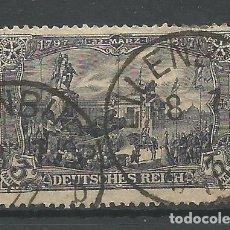 Sellos: ALEMANIA - IMPERIO - 3 MARCOS DE 22 DE MARCO 1897 - USADO PERO EN BUEN ESTADO PAR MAS DE 100 AÑOS. Lote 178787878