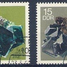 Sellos: ALEMANIA - ORIENTAL - 1969 - 4 SELLOS MINERALES - USADOS. Lote 178790788