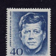 Sellos: ALEMANIA 321** - AÑO 1964 - ANIVERSARIO DE LA MUERTE DEL PRESIDENTE JOHN F. KENNEDY. Lote 234141760
