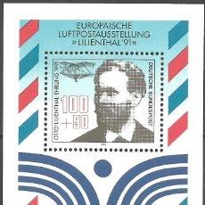 Sellos: ALEMANIA - FEDERAL - BLOQUE 1991 - EXPOSICIÓN EUROPEA AL AIRE 1991 AL HONOR DE OTTO LILIENTHAL. Lote 178811312