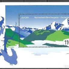 Sellos: ALEMANIA - FEDERAL - BLOQUE EUROPA - 1999 - PARQUE NATURAL BERCHTESGARDEN - NUEVO - HB IVERT 46. Lote 178811493