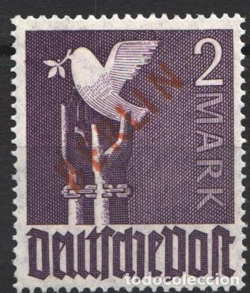 BERLIN 1948 YVERT Nº 18 /**/, SOBRECARGA ROJA, SIN FIJASELLOS, (Sellos - Extranjero - Europa - Alemania)