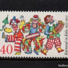 Sellos: ALEMANIA 599** - AÑO 1972 - 150º ANIVERSARIO DEL CARNAVAL DE COLONIA. Lote 178963272