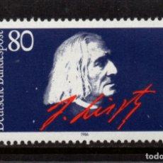 Sellos: ALEMANIA 1117** - AÑO 1986 - MUSICA - CENTENARIO DE LA MUERTE DEL COMPOSITOR FRANZ LISZT. Lote 178964692