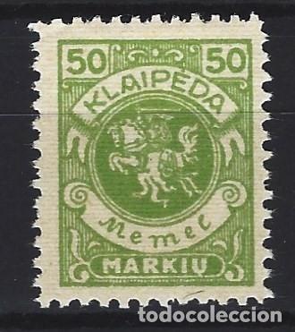 MEMEL 1923 / KLAIPEDIA - ESCUDO DE ARMAS - SELLO NUEVO C/F* (Sellos - Extranjero - Europa - Alemania)