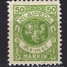 Sellos: MEMEL 1923 / KLAIPEDIA - ESCUDO DE ARMAS - SELLO NUEVO C/F*. Lote 178967230