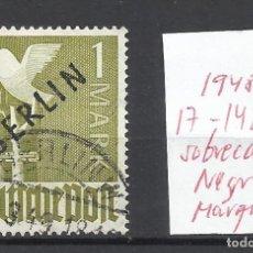 Sellos: 8249- SELLO ALEMANIA BERLIN 1948 Nº 17 VALOR 142,50€ MARQUILLADO,VEA FOTOS.USADO. Lote 179008607