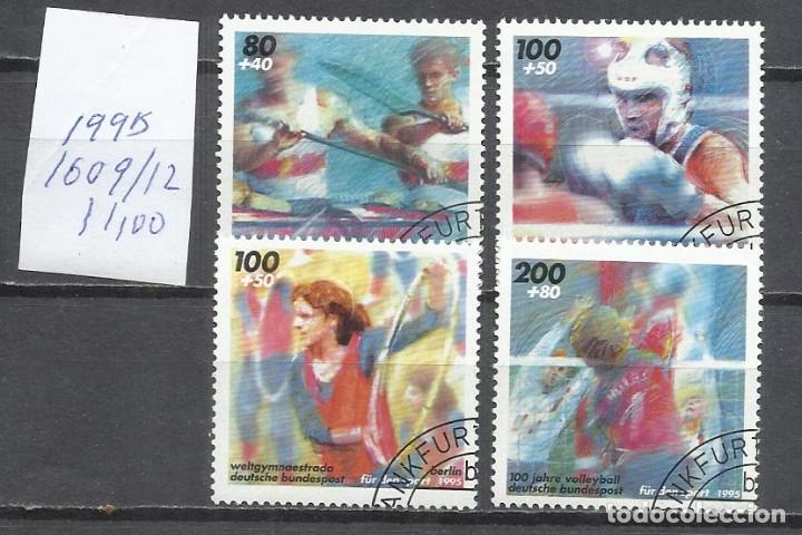 8365II-SERIE COMPLETA ALEMANIA DEPORTES USADOS 1995 Nº1609/12.YVERT 11,00€ (Sellos - Extranjero - Europa - Alemania)