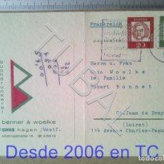 Sellos: TUBAL ALEMANIA A FRANCIA TARJETA POSTAL ENVÍO 2019 70 CTMS T1 . Lote 179029728