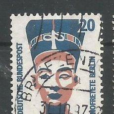 Sellos: ALEMANIA FEDERAL - 1988 - PAREJA NOFRETETE BERLIN - DOS JUNTOS - MI: 1374 - USADOS. Lote 179031800