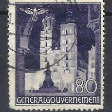 Sellos: GOBIERNO GENERAL 1940 EN POLONIA - EDIFICIOS, IGLESIA DE SANTA MARÍA. CRACOVIA - SELLO USADO. Lote 179090423