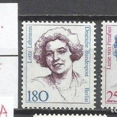 Sellos: 8338-ALEMANIA BERLIN SERIE COMPLETA 13,00€ MNH** 1989 Nº805/6 MUJERES CELEBRES ,FAMOSAS.. Lote 179090615