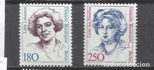 8405-ALEMANIA BERLIN SERIE COMPLETA 13,00€ MNH** 1989 Nº805/6 MUJERES CELEBRES ,FAMOSAS. (Sellos - Extranjero - Europa - Alemania)