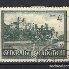 Sellos: GOBIERNO GENERAL 1941 EN POLONIA - EDIFICIOS, MONASTERIO DE TYNIEC - SELLO USADO. Lote 179090898