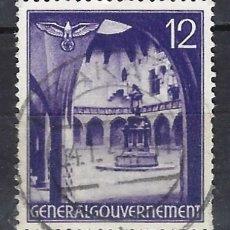 Sellos: GOBIERNO GENERAL 1941 EN POLONIA - EDIFICIOS, PATIO DE LA UNIVERSIDAD. CRACOVIA - SELLO USADO. Lote 179090986