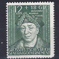 Sellos: GOBIERNO GENERAL 1944 DEUTSCHES REICH - CONRAD CELTES, 1459-1508 - SELLO NUEVO **. Lote 179091788