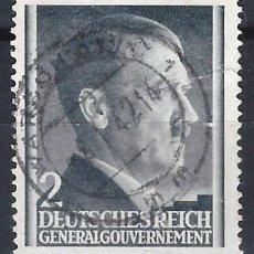 Sellos: GOBIERNO GENERAL 1941 DEUTSCHES REICH - A. HITLER - SELLO USADO. Lote 179092232