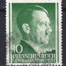Sellos: GOBIERNO GENERAL 1941 DEUTSCHES REICH - A. HITLER - SELLO USADO. Lote 179092298