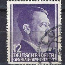 Sellos: GOBIERNO GENERAL 1941 DEUTSCHES REICH - A. HITLER - SELLO USADO. Lote 179092356