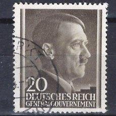 Sellos: GOBIERNO GENERAL 1941 DEUTSCHES REICH - A. HITLER - SELLO USADO. Lote 179092420