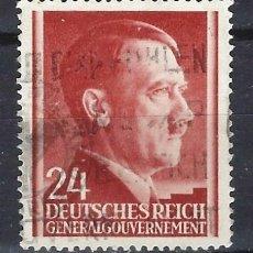 Sellos: GOBIERNO GENERAL 1941 DEUTSCHES REICH - A. HITLER - SELLO USADO. Lote 179092450