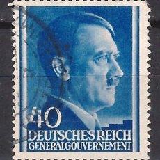 Sellos: GOBIERNO GENERAL 1941 DEUTSCHES REICH - A. HITLER - SELLO USADO. Lote 179092507