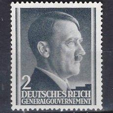 Sellos: GOBIERNO GENERAL 1941 DEUTSCHES REICH - A. HITLER - SELLO SIN GOMA. Lote 179092785