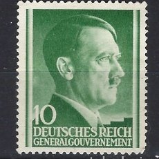 Sellos: GOBIERNO GENERAL 1941 DEUTSCHES REICH - A. HITLER - SELLO SIN GOMA. Lote 179092862