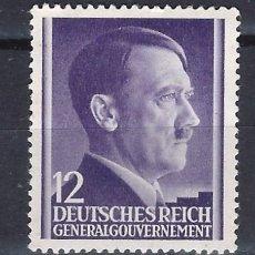 Sellos: GOBIERNO GENERAL 1941 DEUTSCHES REICH - A. HITLER - SELLO SIN GOMA. Lote 179092975