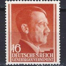 Sellos: GOBIERNO GENERAL 1941 DEUTSCHES REICH - A. HITLER - SELLO SIN GOMA. Lote 179093020
