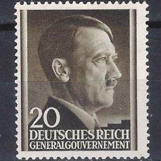 Sellos: GOBIERNO GENERAL 1941 DEUTSCHES REICH - A. HITLER - SELLO SIN GOMA. Lote 179093036