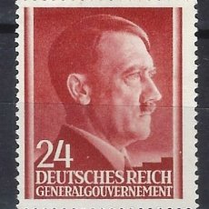 Sellos: GOBIERNO GENERAL 1941 DEUTSCHES REICH - A. HITLER - SELLO SIN GOMA. Lote 179093078