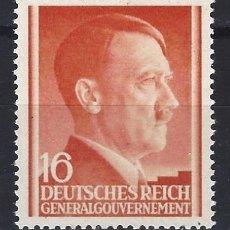 Sellos: GOBIERNO GENERAL 1941 DEUTSCHES REICH - A. HITLER - SELLO NUEVO **. Lote 179093490
