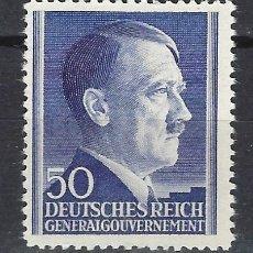 Sellos: GOBIERNO GENERAL 1942 DEUTSCHES REICH - A. HITLER - SELLO NUEVO **. Lote 179093570