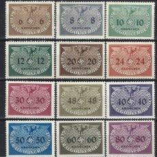 Sellos: GOBIERNO GENERAL 1940 EN POLONIA - SELLOS OFICIALES, S.COMPLETA - SELLOS NUEVOS **. Lote 179094010