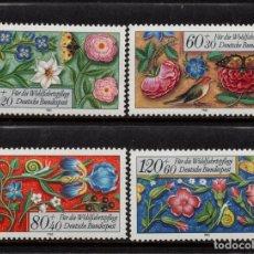 Sellos: ALEMANIA 1091/94** - AÑO 1985 - ARTESANIA - BORDADOS. Lote 179170787