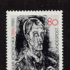Sellos: ALEMANIA 1104** - AÑO 1986 - CENTENARIO DEL NACIMIENTO DEL PINTOR OSKAR KOKOSCHKA. Lote 179171011