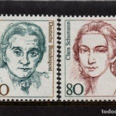 Sellos: ALEMANIA 1136/37** - AÑO 1986 - MUJERES DE LA HISTORIA ALEMANA - CHRISTINE TEUSCH Y CLARA SCHUMANN. Lote 179171775