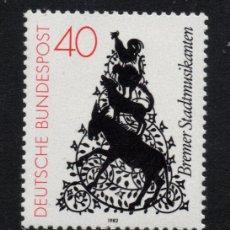 Sellos: ALEMANIA 952** - AÑO 1982 - LOS MUSICOS DE BREMEN, CUENTO DE LOS HERMANOS GRIMM. Lote 180111448