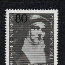 Sellos: ALEMANIA 994** - AÑO 1983 - HOMENAJE A EDITH STEIN, FILOSOFA JUDIA MUERTA EN AUSCHWITZ. Lote 180111721