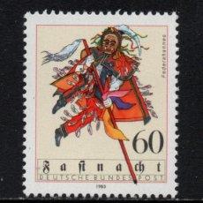Sellos: ALEMANIA 999** - AÑO 1983 - FOLKLORE - CARNAVAL DE ROTTWEIL. Lote 180111811