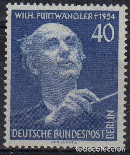 BERLIN 1955 IVERT 113 * FESTIVAL DE MÚSICA Y ANIVERSARIO DE LA MUERTE DE WILHELM FURTWANGLER (Sellos - Extranjero - Europa - Alemania)