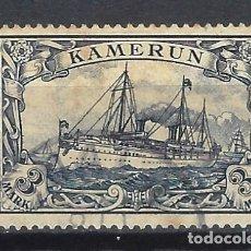 Sellos: CAMERÚN ALEMÁN 1906 - EL ACORAZADO DEL KAISER HOHENZOLLERN - SELLO USADO. Lote 180215342