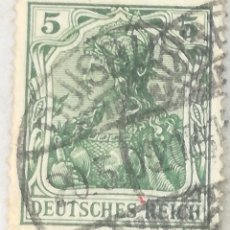 Sellos: SELLO ALEMANIA. 5 PFENNIG. II REICH. ANTERIOR A 1918. Lote 180237405