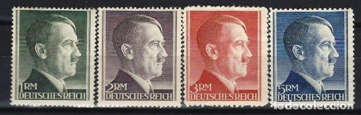 ALEMANIA 1942 - SERIE BÁSICA, A. HITLER, S.COMPLETA - SELLOS NO USADOS, GOMA ALTERADA (Sellos - Extranjero - Europa - Alemania)
